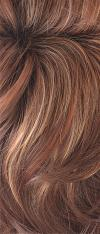 Razberry Ice-R - Rooted Dark Medium Auburn base with Copper and Strawberry Blonde highlights