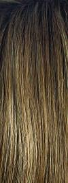 Honey Wheat-R - Rooted Dark Brown with Light Brown base with Honey Blonde highlight (+$)